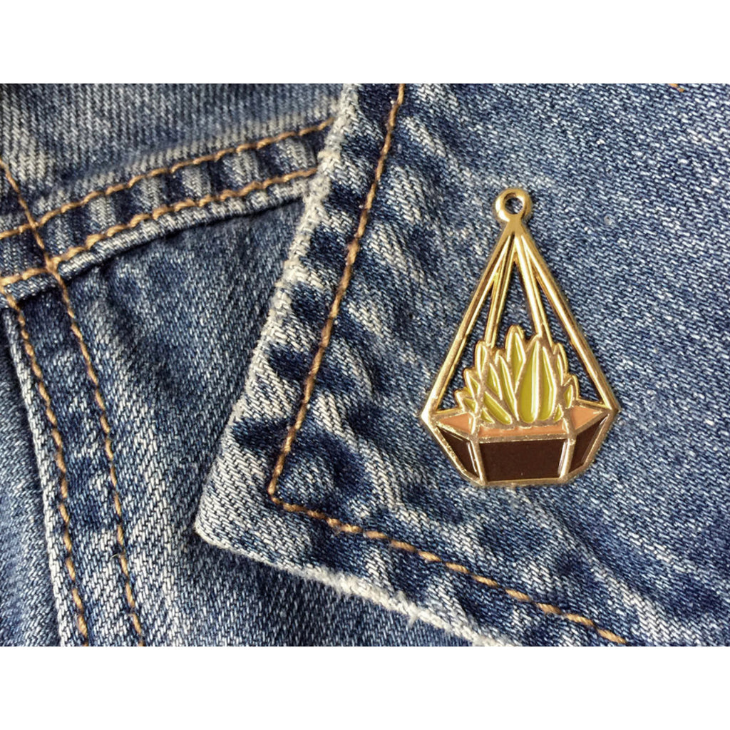 Terrarium Love Enamel Pin