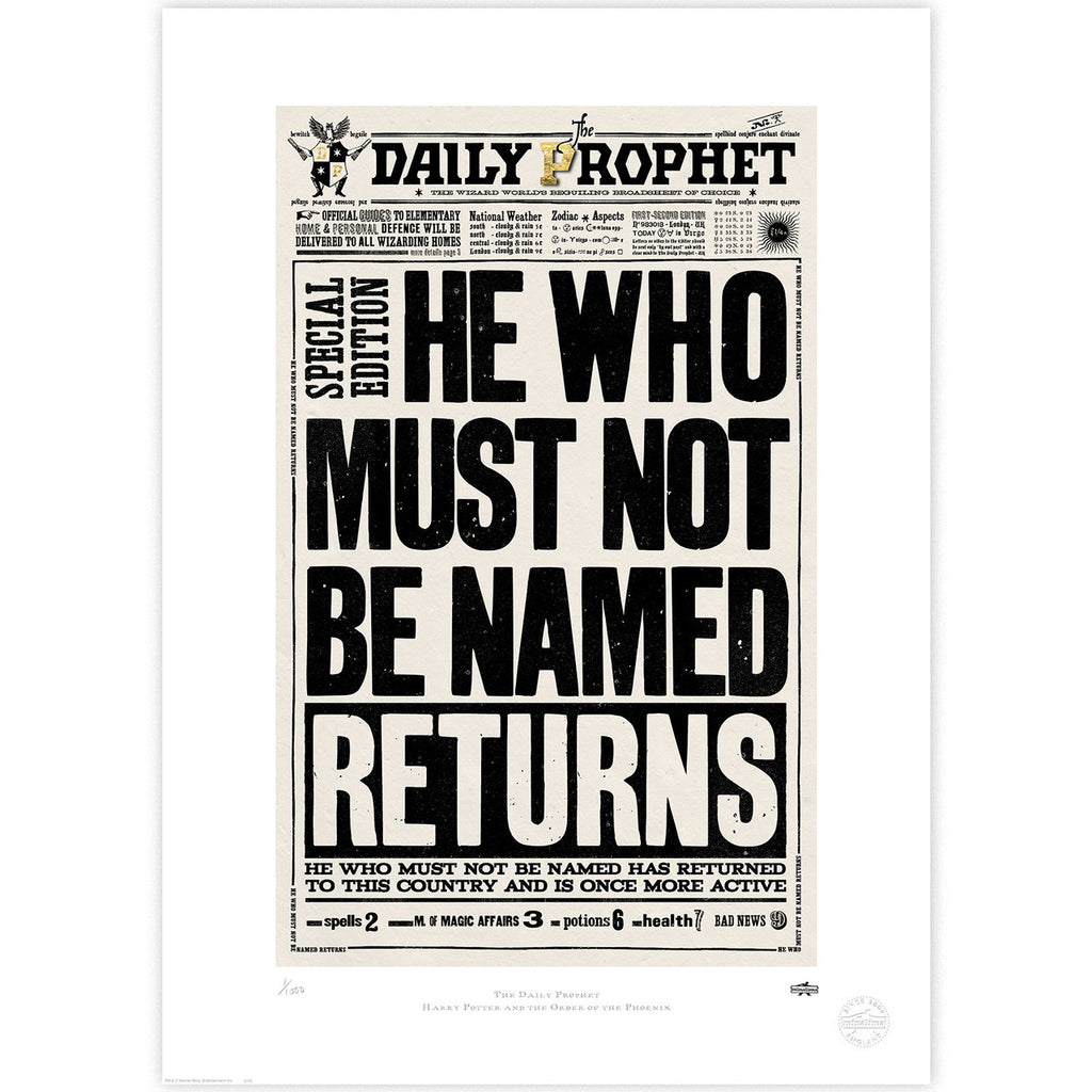 The Daily Prophet - He Who Must Not Be Named Returns
