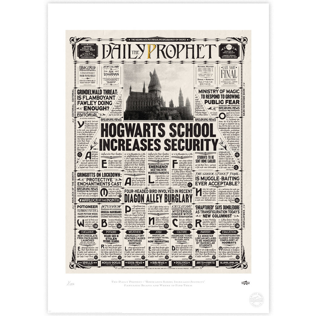 The Daily Prophet - Hogwarts School Increases Security