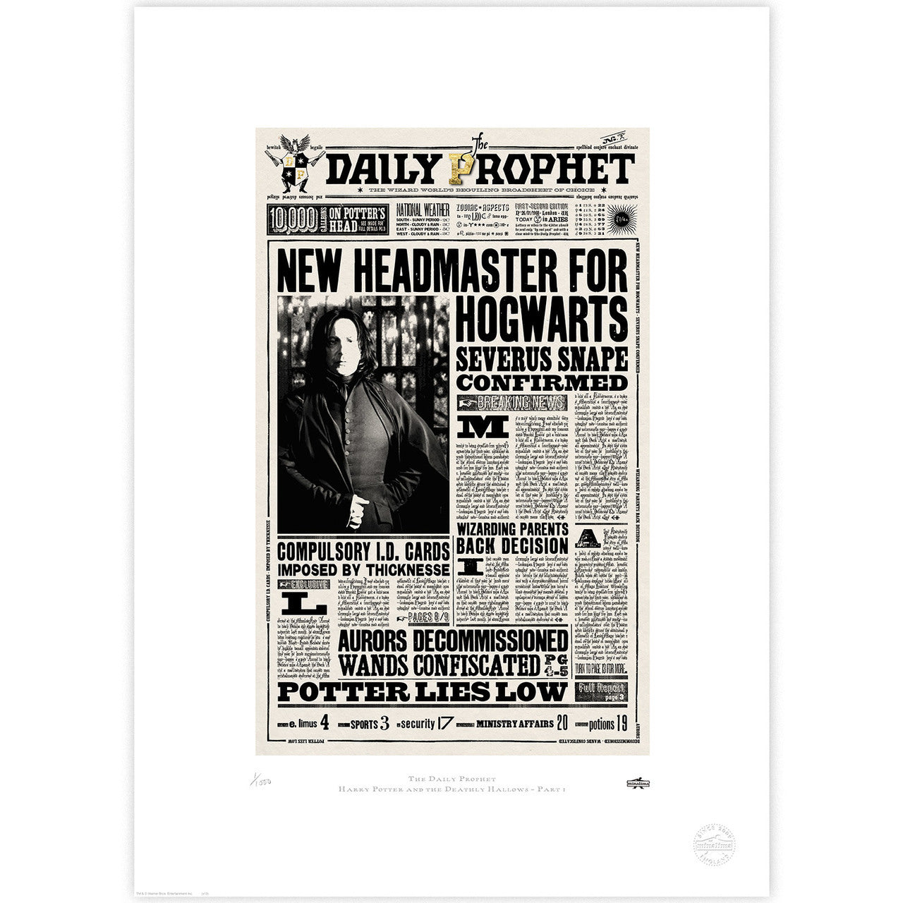image regarding Daily Prophet Printable called The Day-to-day Prophet - Refreshing Headmaster for Hogwarts