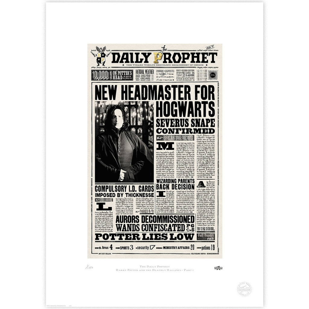The Daily Prophet - New Headmaster for Hogwarts