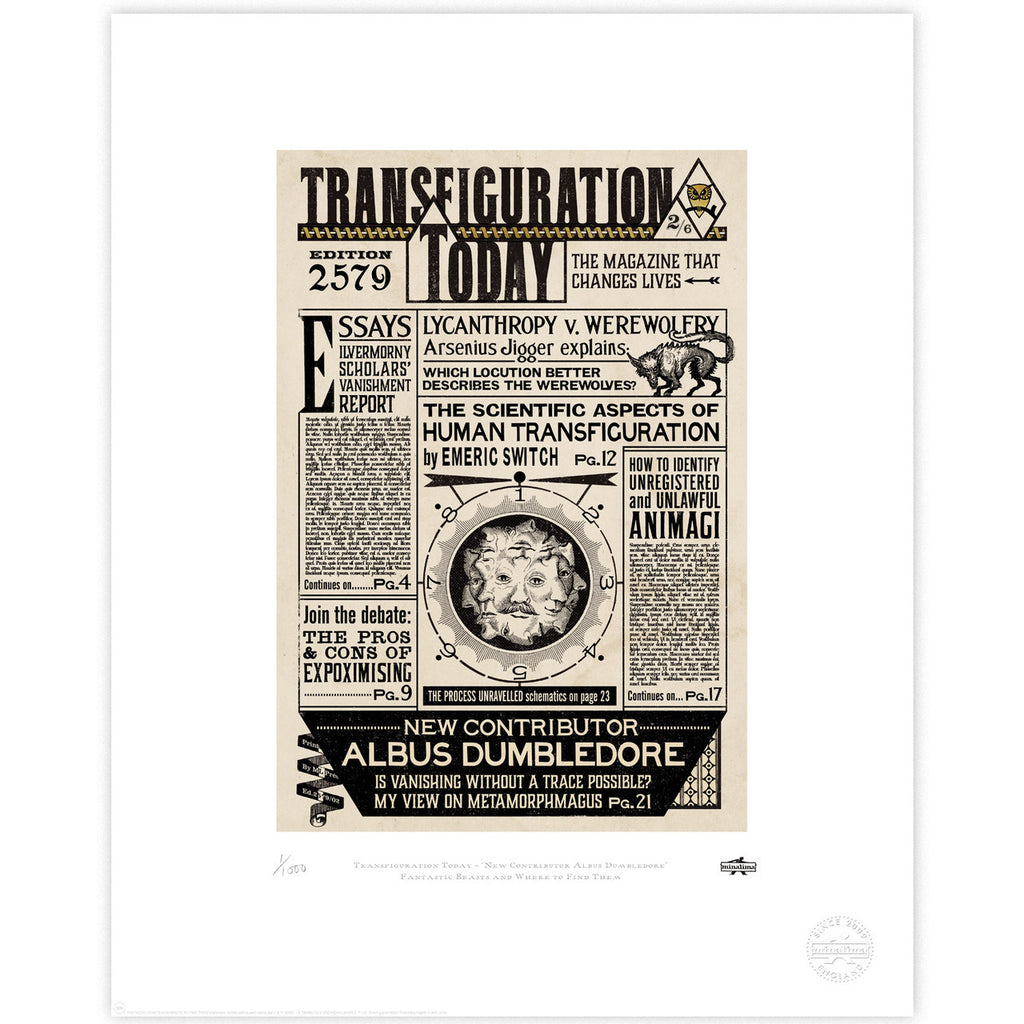 Transfiguration Today - Albus Dumbledore