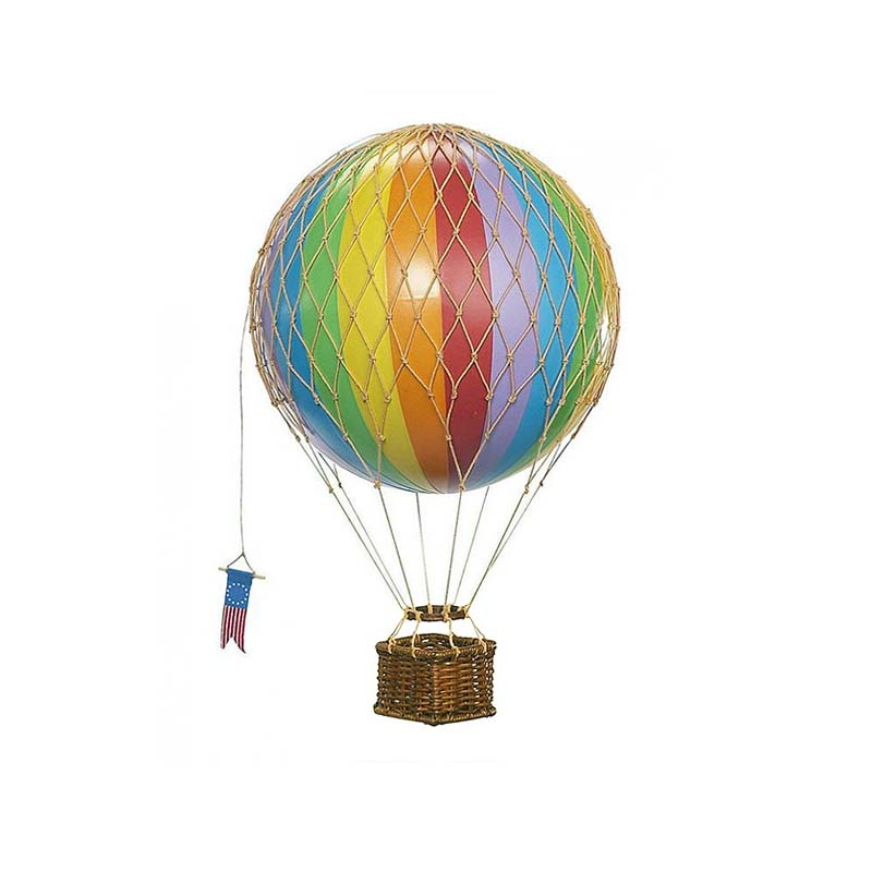 Travels Light Hot Air Balloon - Rainbow