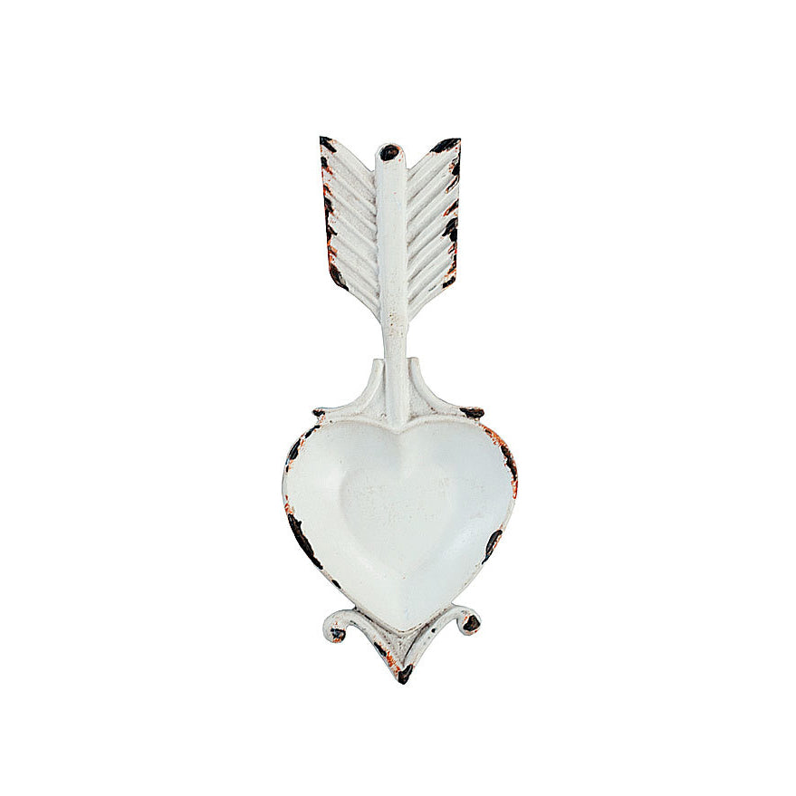 Heart Arrow Ring Tray - White