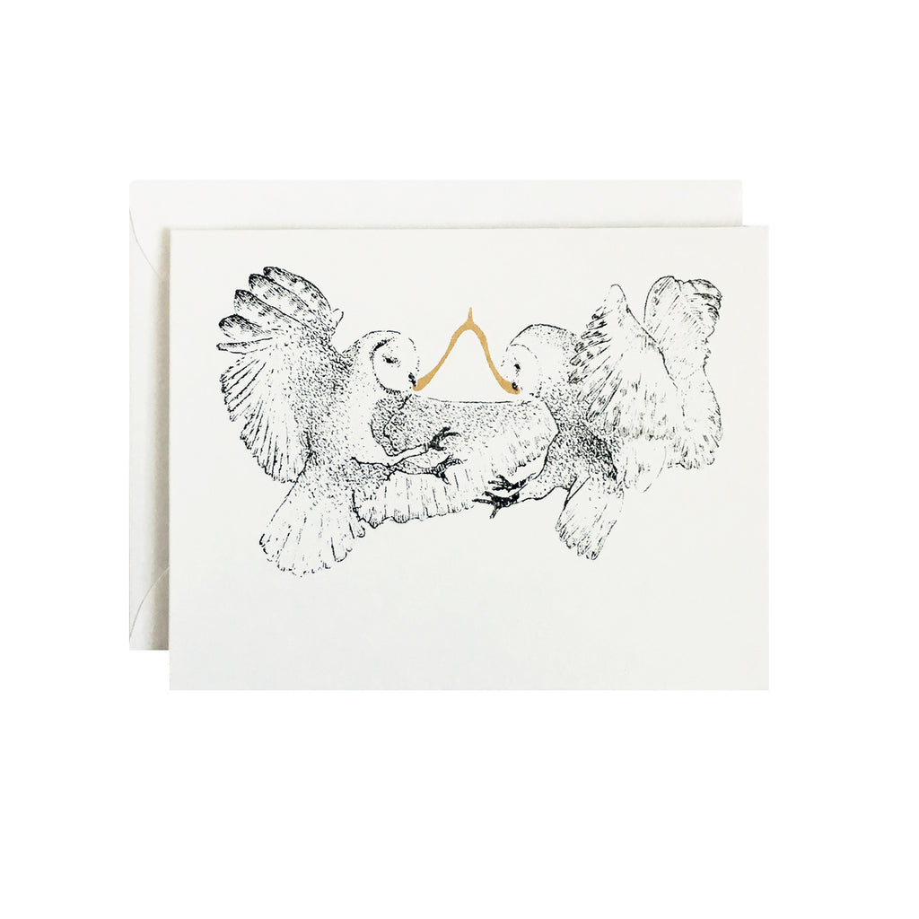 Wishbone Owls Card