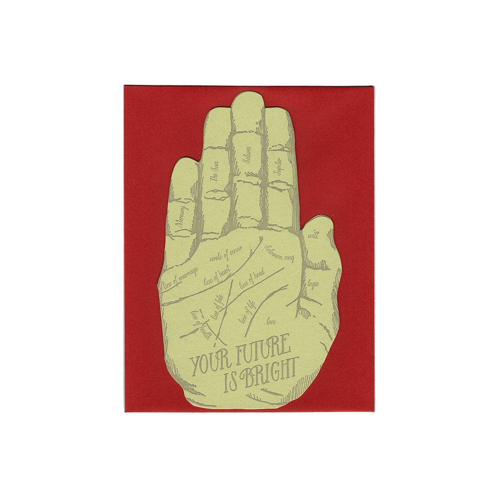 Letterpressed Hand Shaped Card - Bright Future
