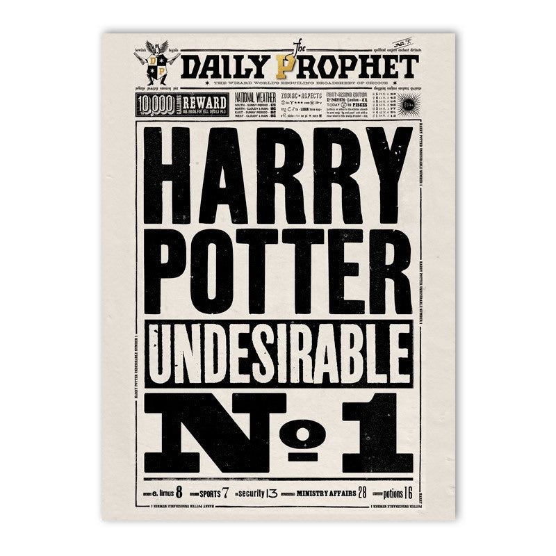 The Daily Prophet - Undesirable No  1 Poster