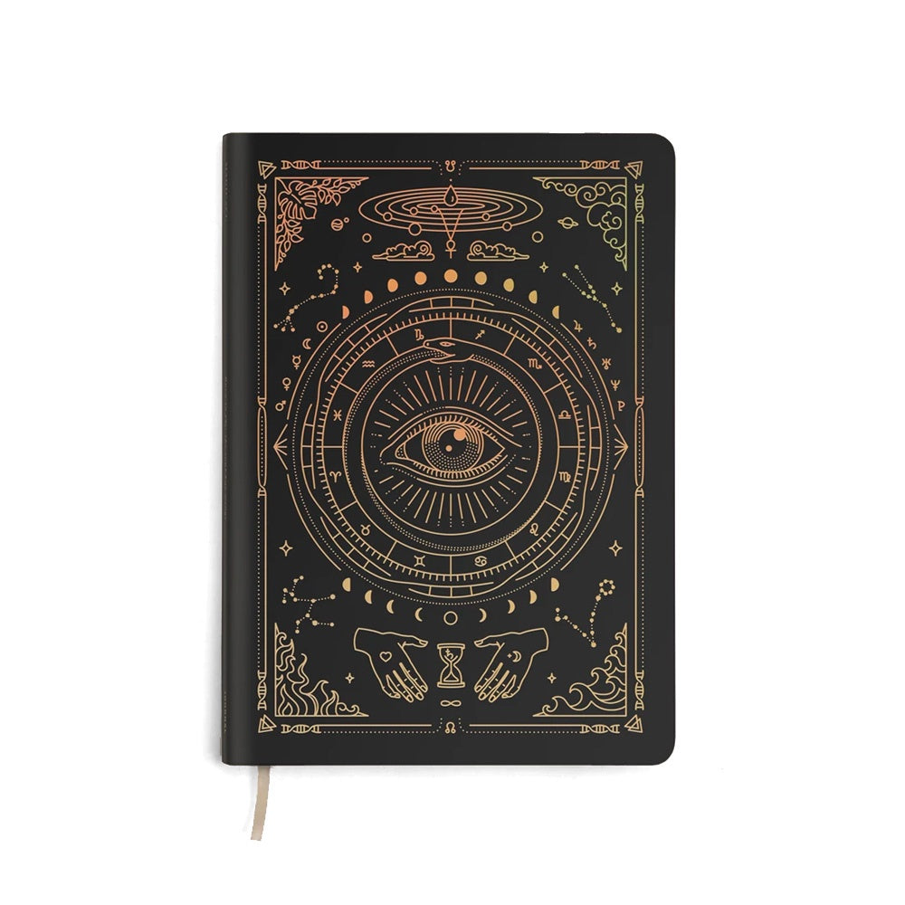 Magic of  I - Black Vegan Leather Lined Journal