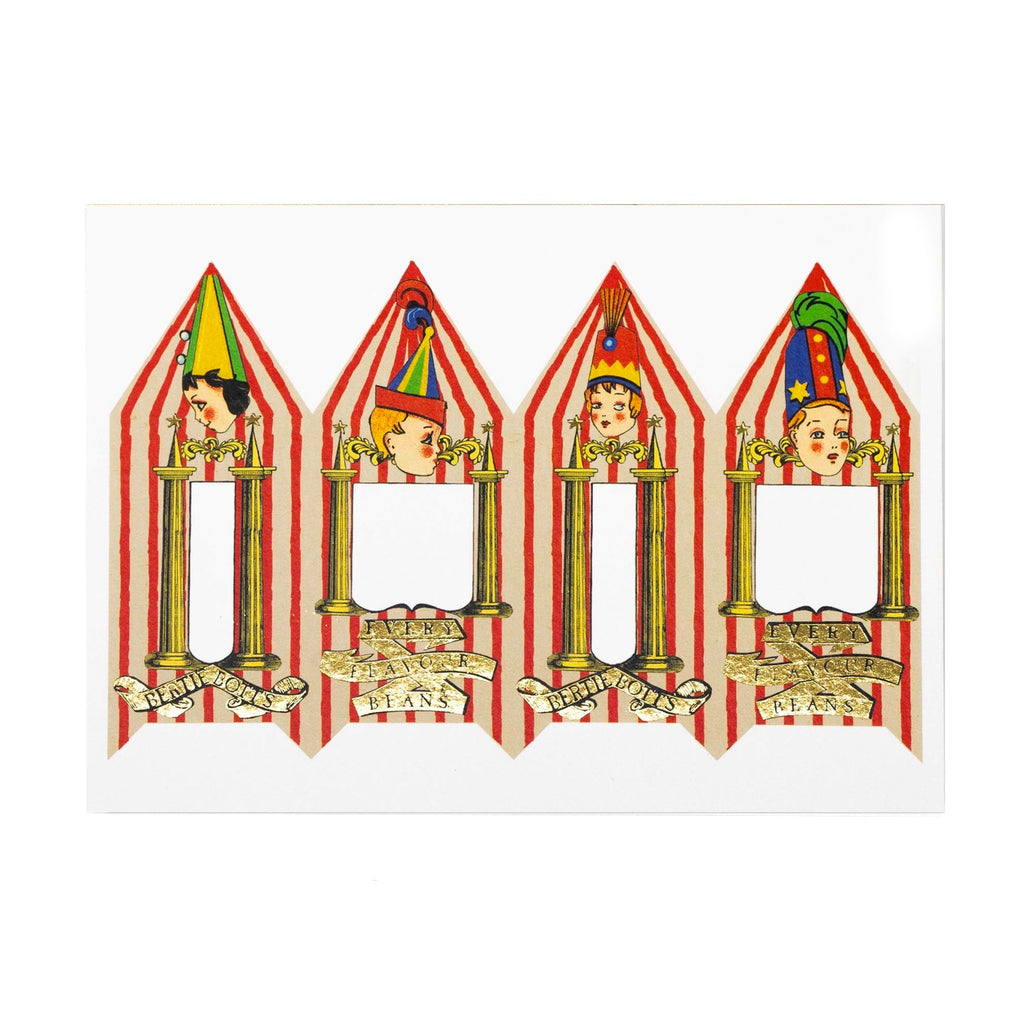 Bertie Bott's Every-Flavour Beans Packaging Foiled Notecard