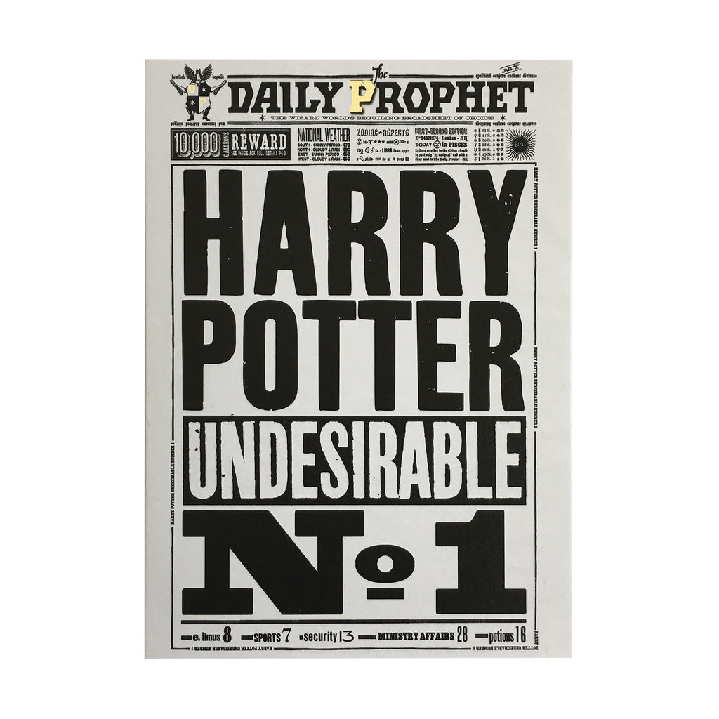 The Daily Prophet - Undesirable No. 1 Notecard