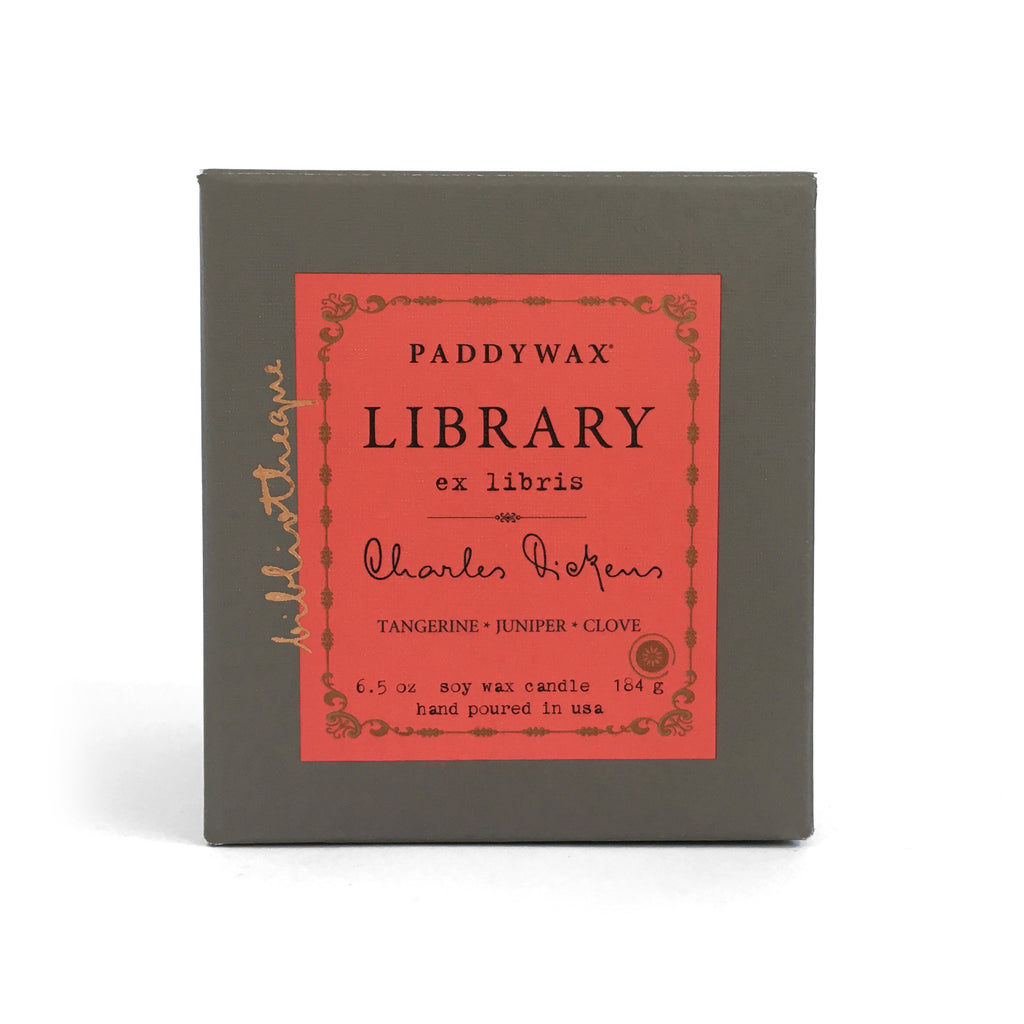 Library Soy Wax Candle - Charles Dickens