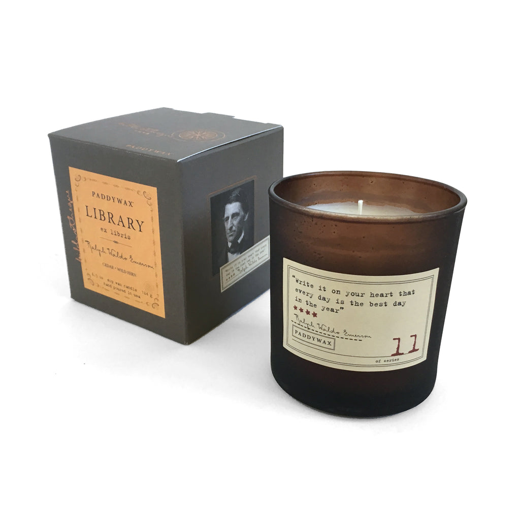 Library Soy Wax Candle - Ralph Waldo Emerson