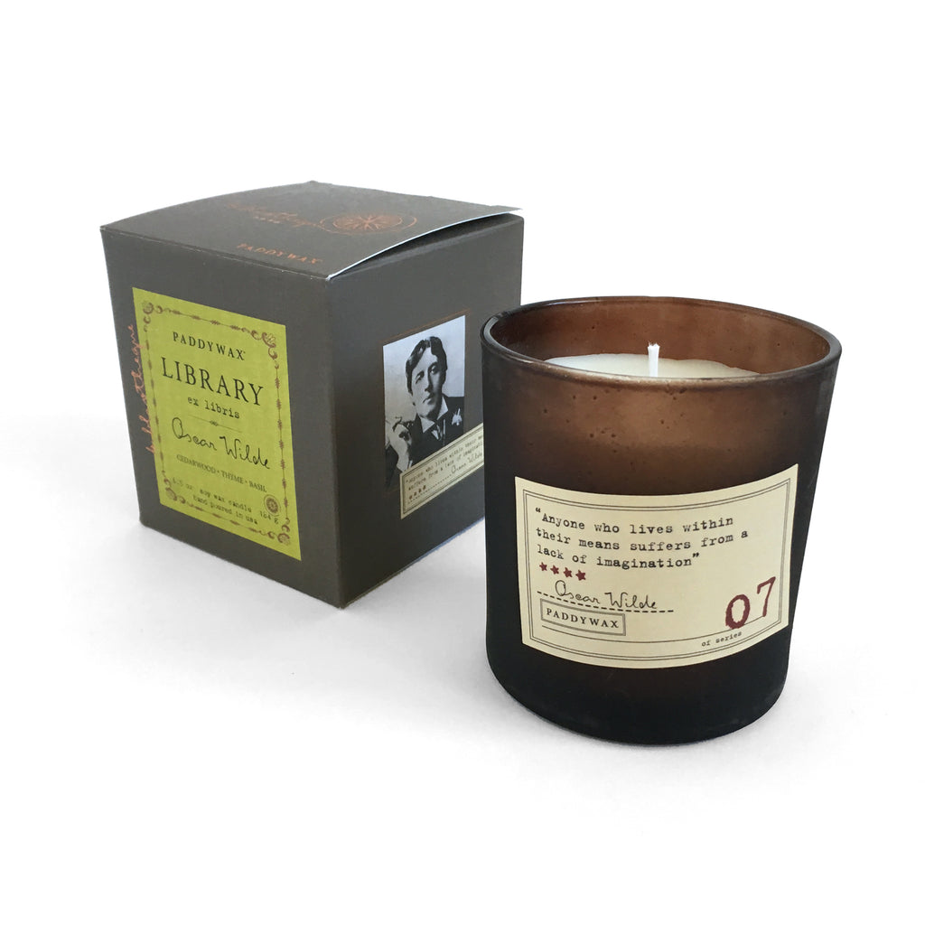 Library Soy Wax Candle - Oscar Wilde