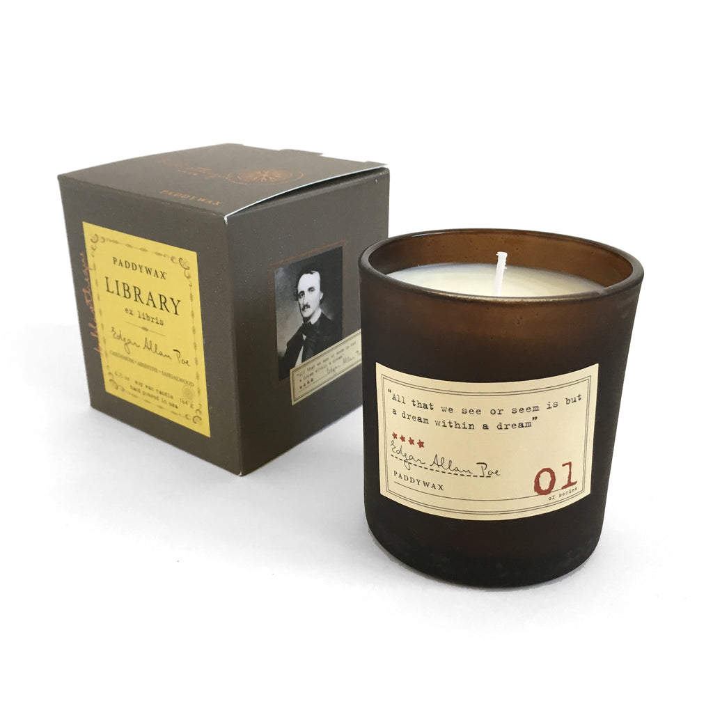 Library Soy Wax Candle - Edgar Allan Poe