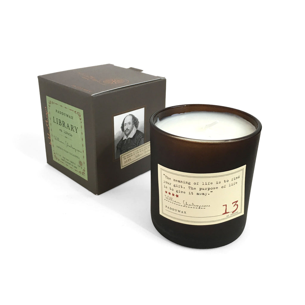 Library Soy Wax Candle - William Shakespeare