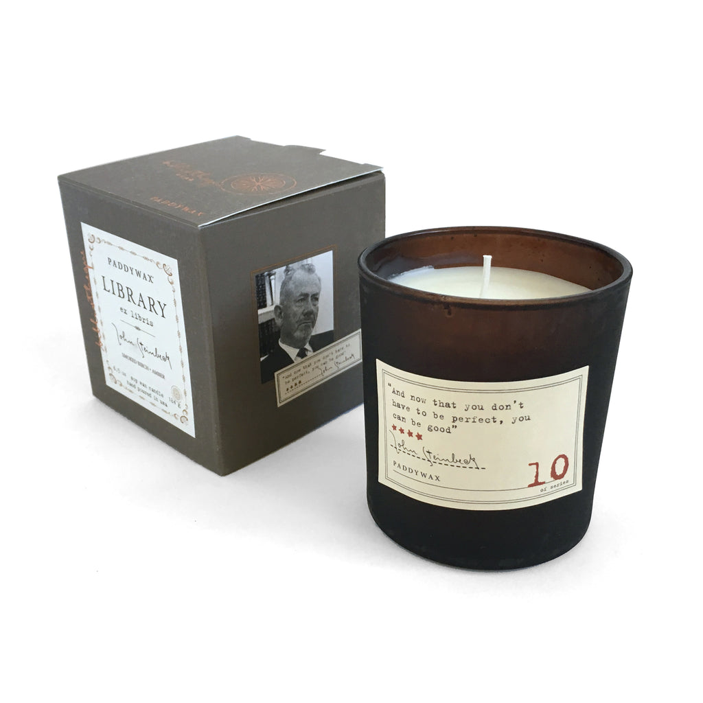 Library Soy Wax Candle - John Steinbeck