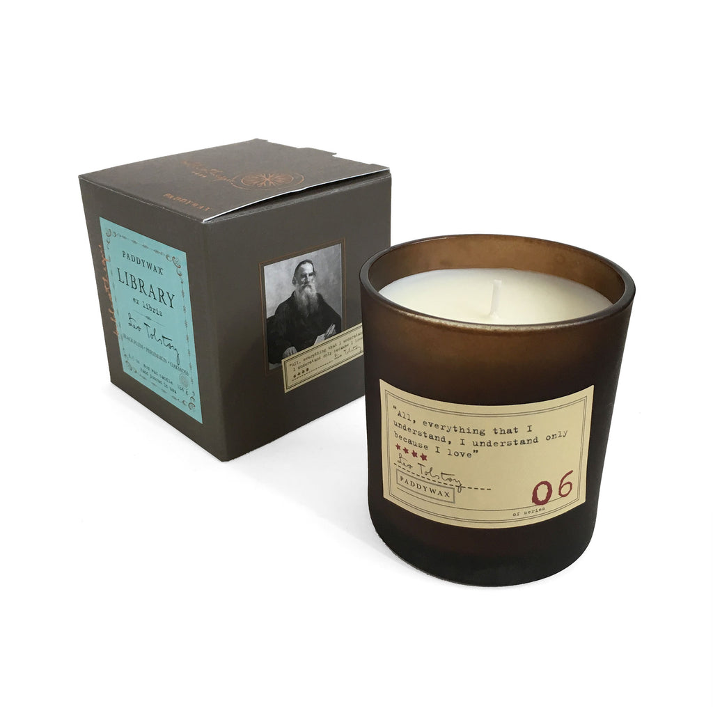 Library Soy Wax Candle - Leo Tolstoy