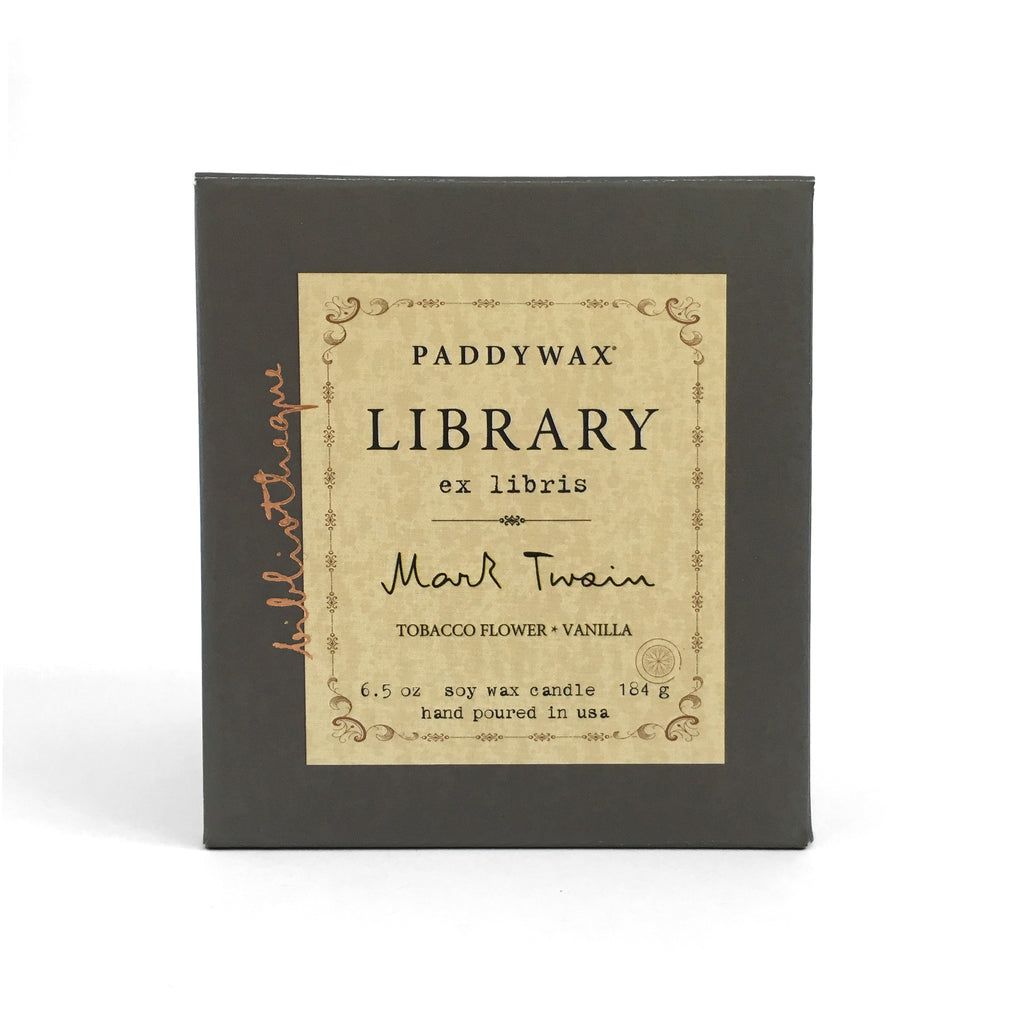 Library Soy Wax Candle - Mark Twain