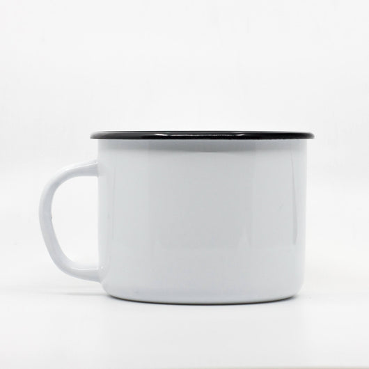 White enamel mug 1000ml/33.8oz
