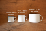 Custom White enamel mug 1000ml/33.8oz