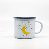 Kids Banana enamel mug 250ml/8.45oz
