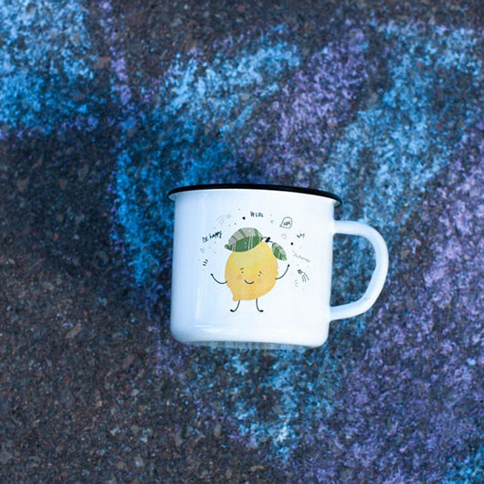 Kids Lemon enamel mug 250ml/8.45oz