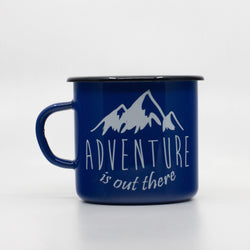 Enamel Mugs - Adventure Is Out There Enamel Mug 400ml/13.5oz