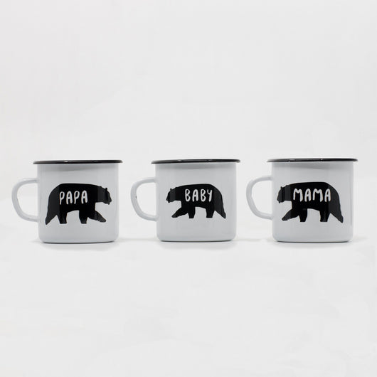 Enamel Mugs - Bear Family Enamel Mug 400ml/13.5oz