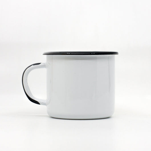 Enamel Mugs - Enamel Mug With Black Handle 250ml/8.45o.z.