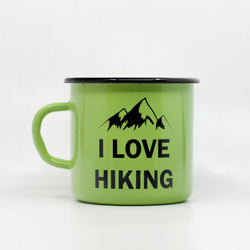 Enamel Mugs - I Love Hiking Enamel Mug 400ml/13.5oz