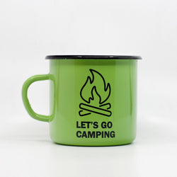 Enamel Mugs - Let's Go Camping Enamel Mug 400ml/13.5oz