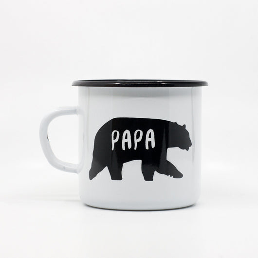 Enamel Mugs - Papa Bear Enamel Mug 400ml/13.5oz