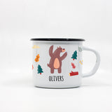 Kids Bear enamel mug with your name 250ml/8.45oz