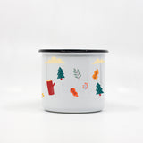 Kids Fox enamel mug with your name 250ml/8.45oz