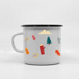 Kids Deer enamel mug with your name 400ml/13.5oz