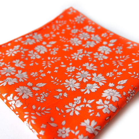 Pochette Tika Liberty Capel Orange fabriqué en France