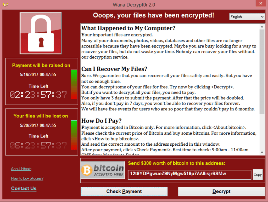 Ranswomware Wannacry Zebpay Buy Bitcoins