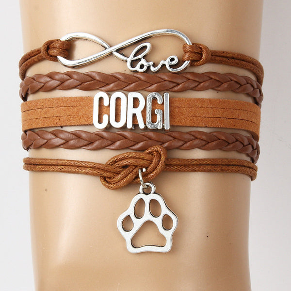 Infinity Love with Corgi Paw