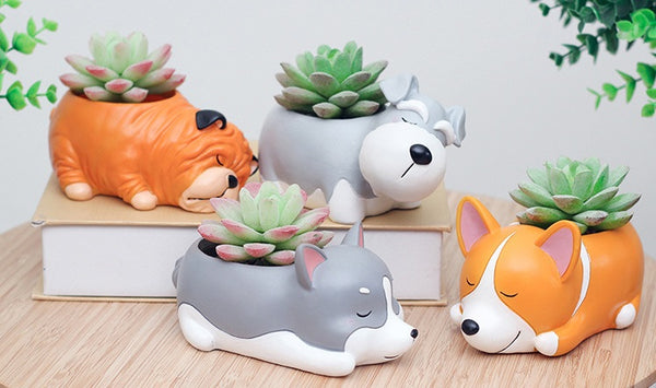 Cute Dog Mini Flowerpot