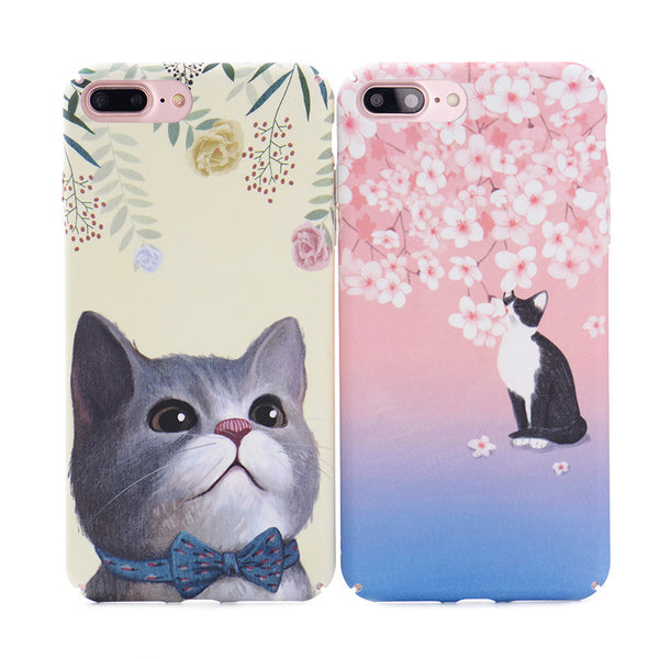Spring Themed Cats Iphone Cases
