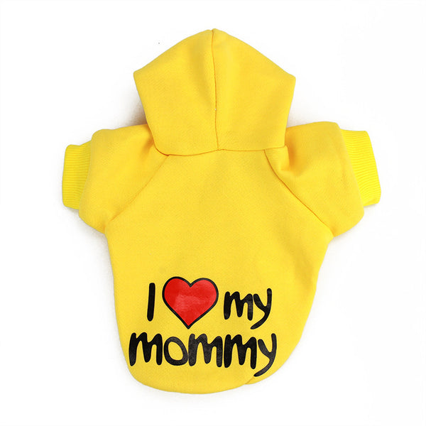 """I love my mommy/daddy"" Hoodie for Puppies/Small Dogs"