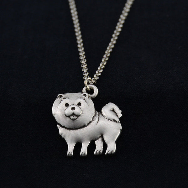Vintage 3D Chow Chow Necklace