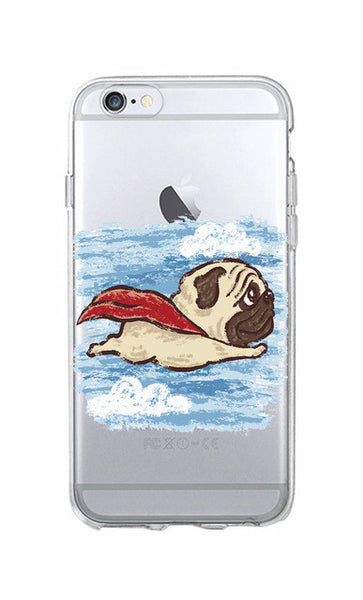 Crayon Drawing Pug Phone Case