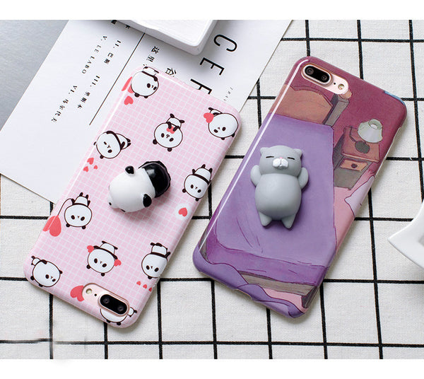 Funny 3D Cat / Panda Cases