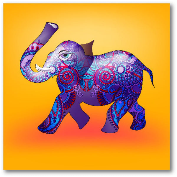 Purple Elephant Premium Canvas Gallery Wrap