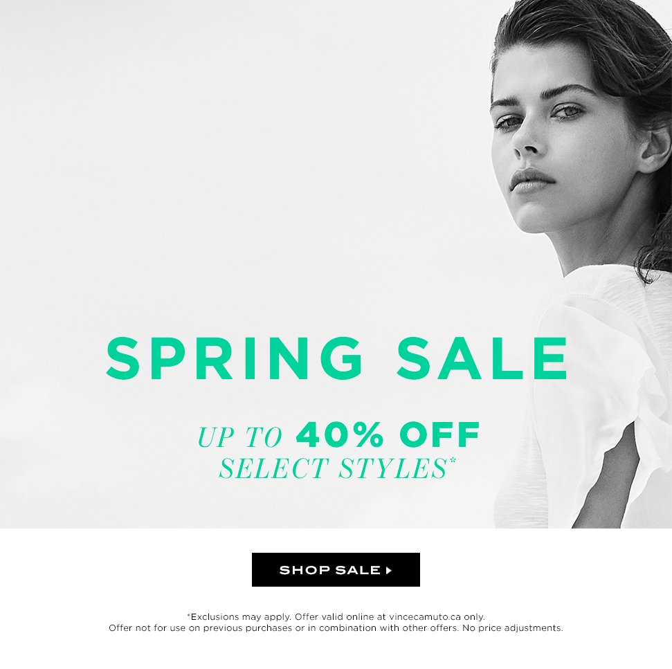 Spring Sale Up to 40% Off