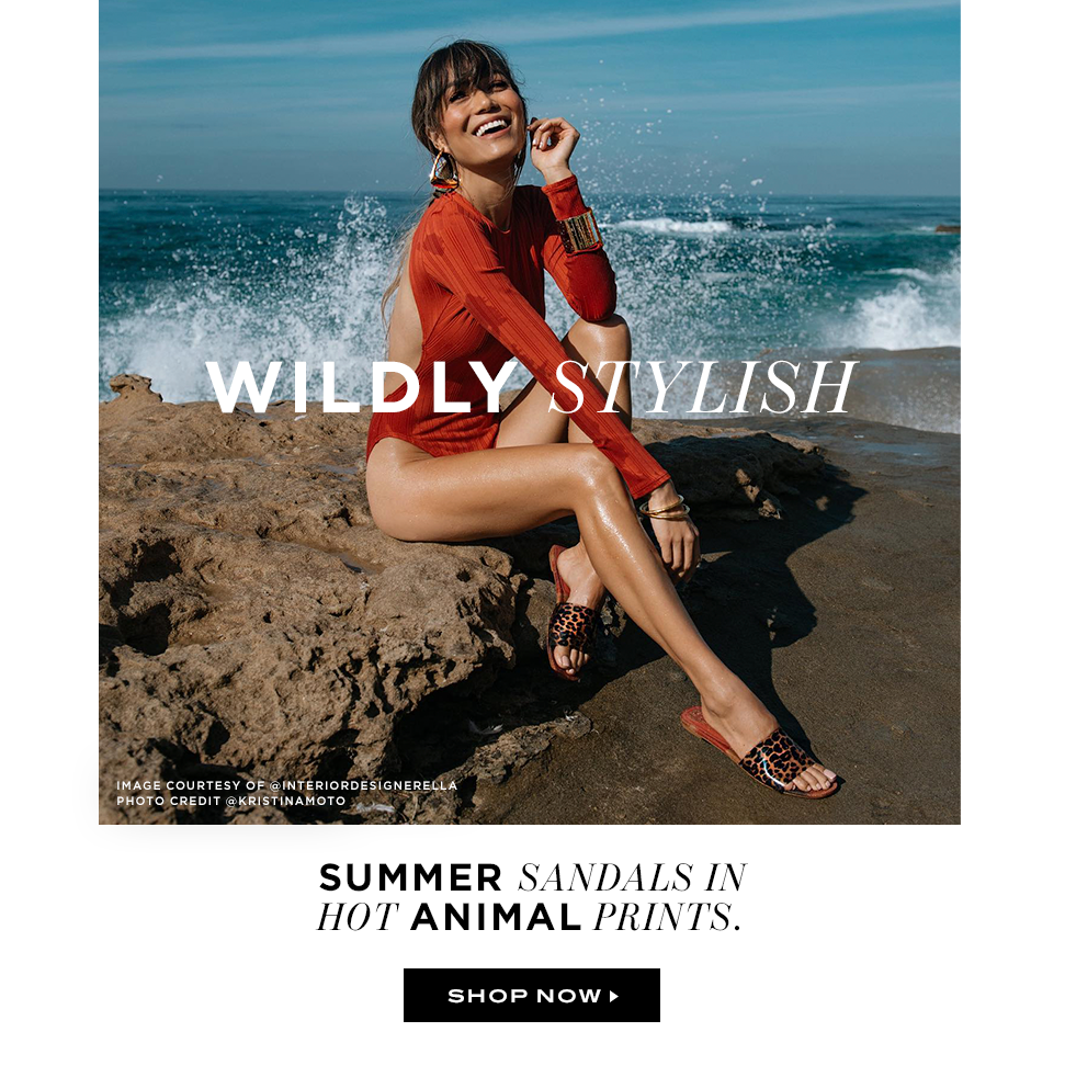 Wildly stylish: summer sandals in hot animal prints
