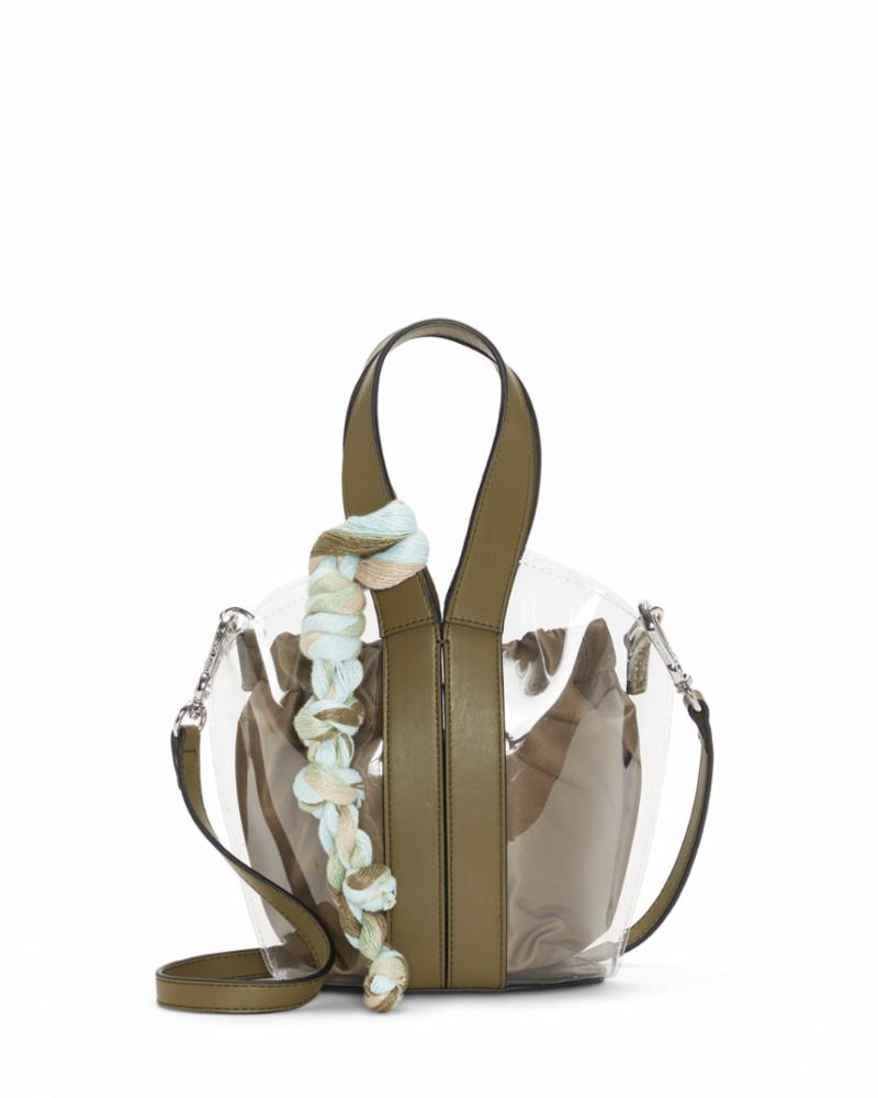 Vince Camuto Handbag AFIN SMTOTE1 UNIFORM GREEN/CLEAR /PVC/SOFT