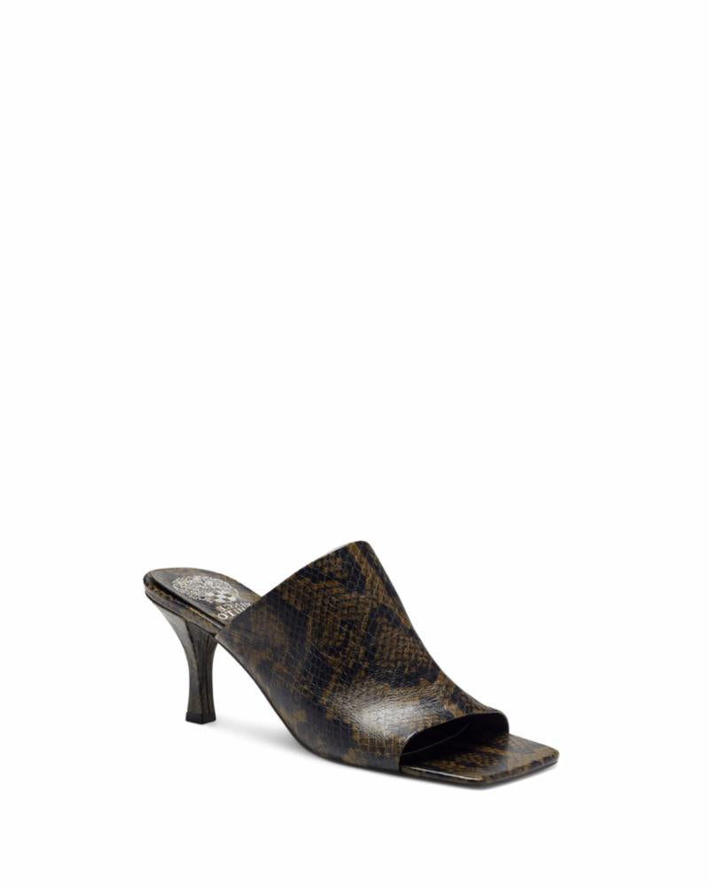 Vince Camuto ARLINALA DARK BROWN/ PEBBLE PRINT SNAKE