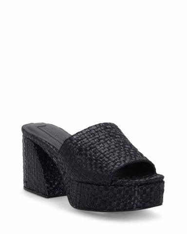 Imagine Vince Camuto CAIRA BLACK/THATCHED RAFFIA